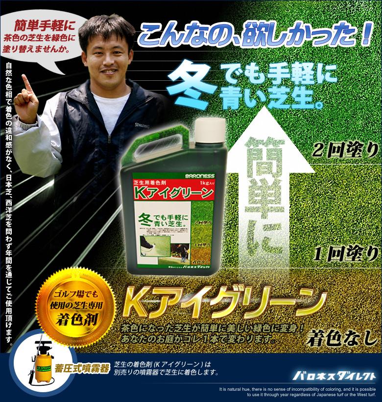 冬でも手軽に青い芝生。簡単手軽に茶色の芝生を緑色に塗り替えませんか。