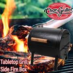 Char-Griller テーブルトップ バーベキューグリル サイドファイアボックス